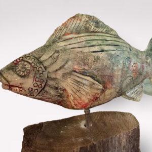 Fisch Skulptur aus Keramik