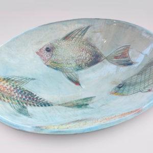 Keramikschale mit Fischen